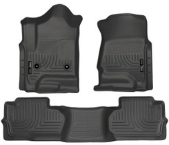 HUSKY LINERS 98241 FRONT & 2ND SEAT FLOOR LINERS (FOOTWELL COVERAGE) (CHEVROLET SILVERADO/GMC SIERRA)