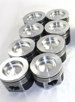 MAHLE 6.7L Pistons w/o Rings, Oversize 0.50MM (11-13 POWERSTROKE) (SET OF 8)