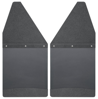 """HUSKY LINERS 17101 KICK BACK MUD FLAPS 12"""" WIDE - BLACK TOP AND BLACK WEIGHT (CHEVY/DODGE/FORD/GMC)"""