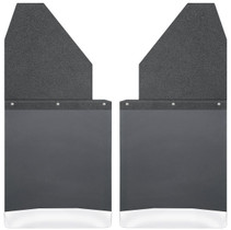 """HUSKY LINERS 17111 KICK BACK MUD FLAPS 14"""" WIDE - BLACK TOP AND STAINLESS STEEL WEIGHT (CHEVY/DODGE/FORD/GMC)"""