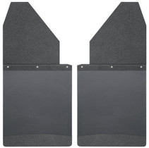 """HUSKY LINERS 17112 KICK BACK MUD FLAPS 14"""" WIDE - BLACK TOP AND BLACK WEIGHT (CHEVY/DODGE/GMC)"""
