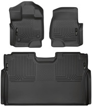 HUSKY LINERS 94041 FRONT & 2ND SEAT FLOOR LINERS (2015-2021 Ford F-150)