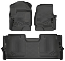 HUSKY LINERS 94061 FRONT & 2ND SEAT FLOOR LINERS (2017-2022 Ford Super Duty)