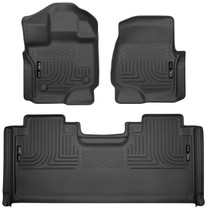 HUSKY LINERS 94051 FRONT & 2ND SEAT FLOOR LINERS (2015-2021 Ford F-150)