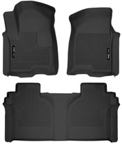 HUSKY LINERS 54208 FRONT & 2ND SEAT FLOOR LINERS (2019-2021 Chevrolet Silverado)
