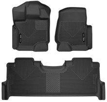 HUSKY LINERS 53388 FRONT & 2ND SEAT FLOOR LINERS (2017-2022 Ford Super Duty)