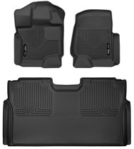 HUSKY LINERS 53498 FRONT & 2ND SEAT FLOOR LINERS (2015-2021 Ford F-150)