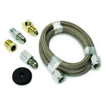 """AUTOMETER 3227 LINE, BRAIDED STAINLESS STEEL, #4 DIA., 3FT. LENGTH, -4AN AND 1/8"""" NPTF FITTINGS"""