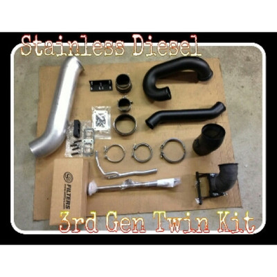 STAINLESS DIESEL TTPK400/400-0307 | S400/S400 TWIN PIPING KIT '03-'07 5.9