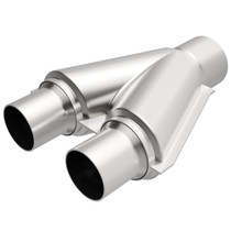 """MAGNAFLOW PERFORMANCE 10778 STAINLESS STEEL Y-PIPE (2.5"""" INLET, 3"""" OUTLET, 10"""" OVERALL LENGTH)"""