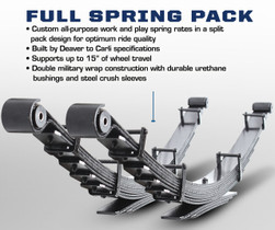 "CARLI SUSPENSION 3"" Heavy Duty Full Leaf Springs (10-12 RAM)"