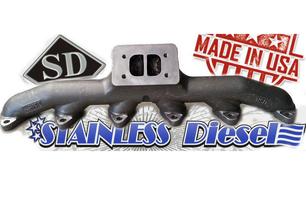 STAINLESS DIESEL T-3 24 VALVE EXHAUST MANIFOLD
