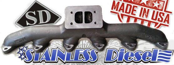 STAINLESS DIESEL T-6 12 VALVE EXHAUST MANIFOLD
