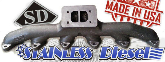 STAINLESS DIESEL T-4 24 VALVE EXHAUST MANIFOLD
