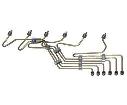 SCHEID DIESEL 154078ISBPPSETNS FUEL LINE KIT WITH STEEL FUEL LINES FOR ISB WITH P PUMP
