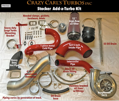 CRAZY CARL'S TURBOS 03-07 STOCK 2/3 TWIN TURBO KIT