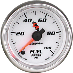 Auto Meter 7170 C2 2-1//16 0-60 PSI Full Sweep Electric Boost Gauge