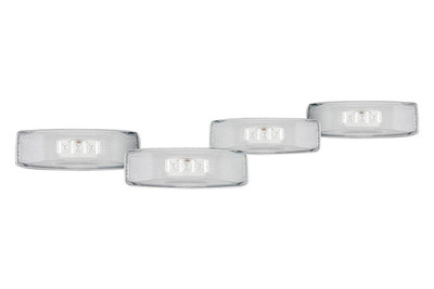 RECON 264130CL CLEAR 4-PC LED DUALLY FENDER LIGHTS 1994-2001 DODGE RAM DUALLY