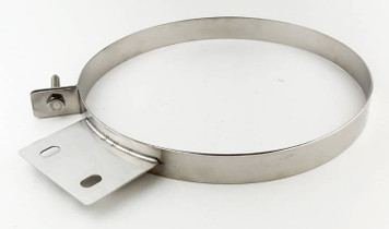 PYPES PERFORMANCE EXHAUST HSC007 Diesel Stack Exhaust Clamp 7 in Polished 304 Stainless Steel Pypes Exhaust
