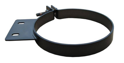 PYPES PERFORMANCE EXHAUST HSC006B Diesel Stack Exhaust Clamp 6 in Black Finish 304 Stainless Steel Pypes Exhaust