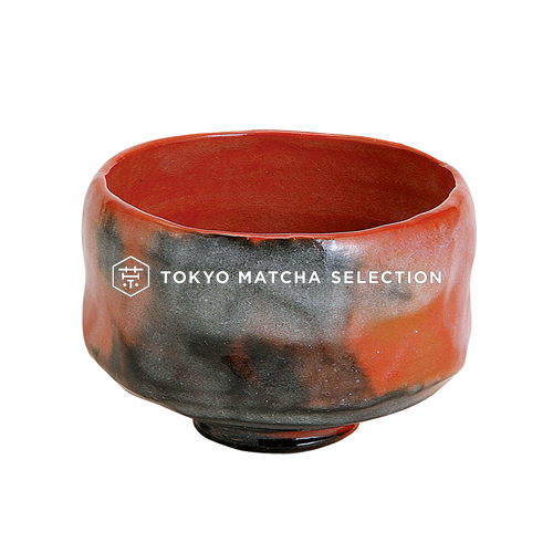 Matcha Bowl : AKARAKU - Kyo-yaki Matcha Wan (RED) with Wooden Box from Kyoto
