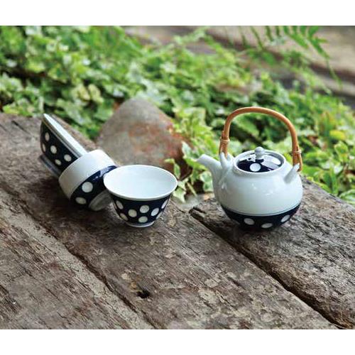 Kyusu tea pot & 2 Yunomi tea cups set