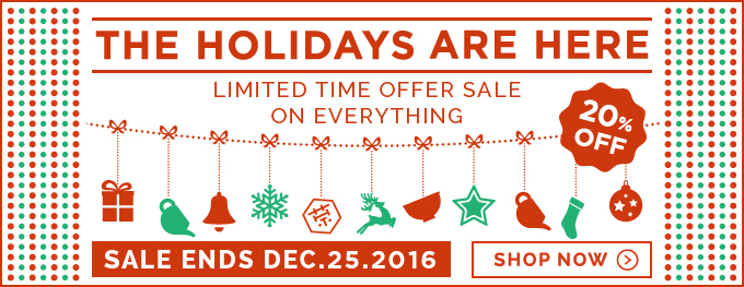 Holiday season sale 2016 ! & Celebration of the renewed mobile site.