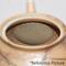 Tokoname Kyusu teapot - HOKUJO - Black 240cc/ml - sasame ceramic fine mesh with wooden box - sasame ceramic mesh fine