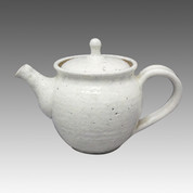 Tokoname Kyusu teapot - JUNZO - Dusting 300cc/ml - sasame ceramic fine mesh with wooden box - Item Image