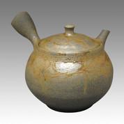 Tokoname Kyusu teapot - JIN - Strange Algae 280cc/ml - ceramic fine mesh with wooden box - Item Image