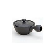 Tokoname kyusu - HACHIJYUHACHIYA Black (220cc/ml) ceramic mesh - Japanese teapot