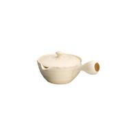 Tokoname kyusu - HACHIJYUHACHIYA White (220cc/ml) ceramic mesh - Japanese teapot