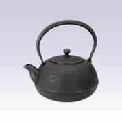 Nanbu Tetsubin : Hiramarugiku (chrysanthemum) - 2.3 Liter - Japanese cast iron teapot kettle