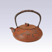 Nanbu Tetsubin : Gourd (Rust color) - 1.2 Liter - Japanese cast iron teapot kettle