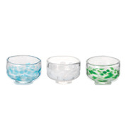 GIYAMAN - Glass Matcha Bowl - 3 color - Japanese Matchawan tea ceremony