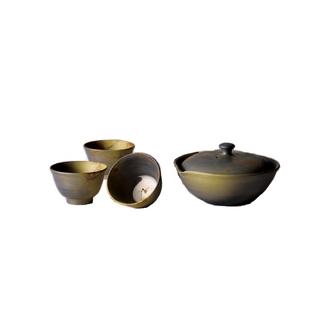 Tokoname Hohin set - HAKUZAN - 1pot & 3chawan - Japanese teapot