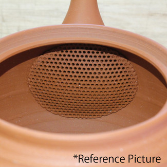 Tokoname Kyusu Teaset - JUSEN - Mud Foaming 1pot & 5chawan cups - ceramic fine mesh