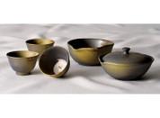 Tokoname Hohin set - HAKUZAN (90cc/ml) 1pot & 1yuzamashi & 3chawan - Japanese teapot