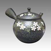 Tokoname Kyusu teapot - SHORYU - SAKURA 300cc/ml - ceramic fine mesh - Item Image