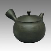 Tokoname Kyusu teapot - GYOKKO - Stage of line 180cc/ml - ceramic fine mesh - Item Image