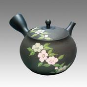 Tokoname Kyusu teapot - GYOKKO - Camellia 320cc/ml - ceramic fine mesh - Item Image