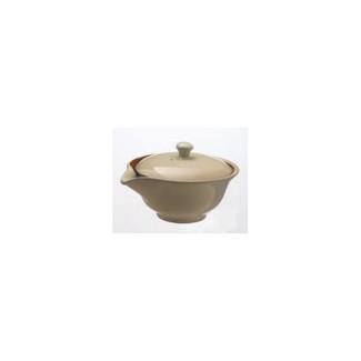 Hohin teapot - SOZAN (140cc/ml) Off White - ceramic mesh