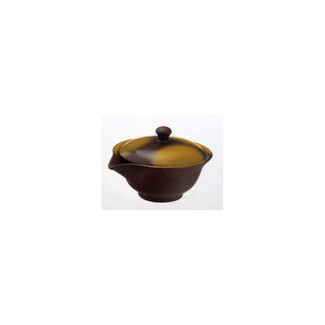 Hohin teapot - SOZAN (140cc/ml) Brown - ceramic mesh