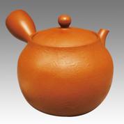 Tokoname Kyusu teapot - NAGASABURO - Vermilion 220cc/ml - ceramic fine mesh - item Image