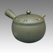 Tokoname Kyusu teapot - NAGASABURO - Arabesque 300cc/ml - ceramic fine mesh - Item Image