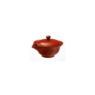 Hohin teapot - SOZAN (140cc/ml) Red - ceramic mesh