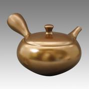 Tokoname Kyusu teapot - UKO - Silver color 260cc/ml - obi ami stainless steel net - Item Image