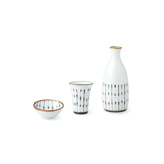 Sake Bottle & Cup Set - Leaf (B) - item