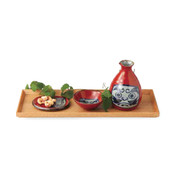 Sake Bottle & Cup Set - Dharma - Japanese Hasami Pottery ceramic