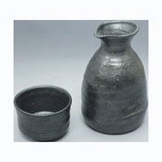 Sake Bottle & 2 Cup Set - Konsei (B) - Japanese Tokoname-yaki pottery ceramic